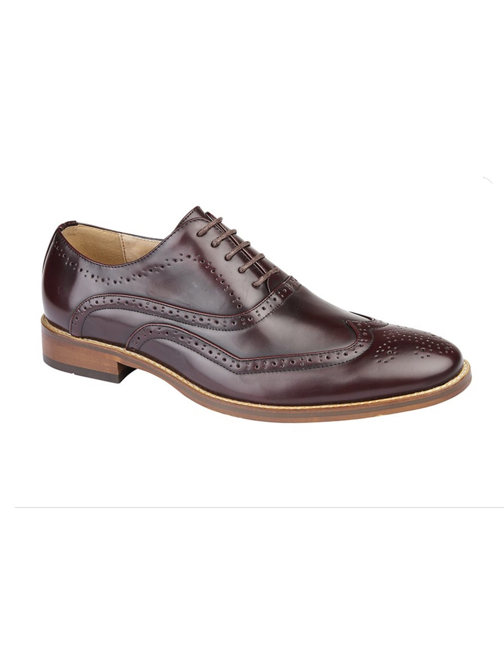 Oxblood Oxford Brogue Shoe