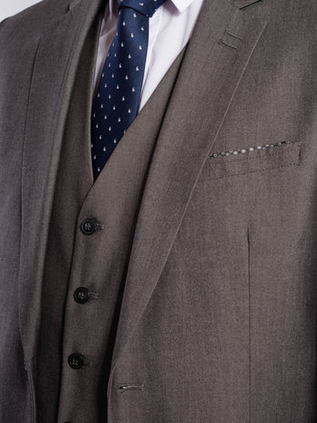 Tapered Grey Suit