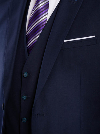 Tapered Navy Suit