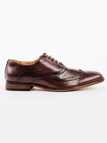 Brown Oxford Brogue Shoe