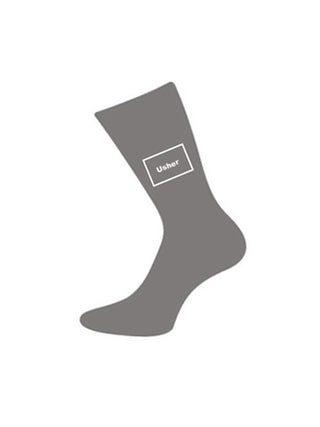 wedding socks usher grey