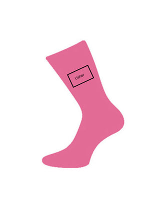 wedding socks usher pink
