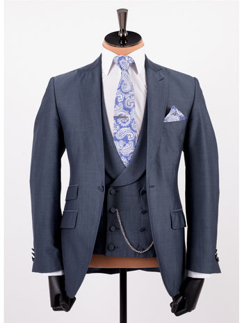 Airforce Mohair Lounge Wedding Suit