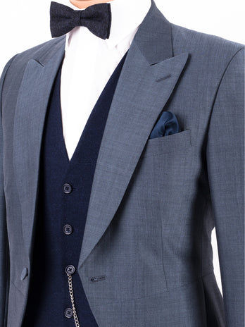 Airforce Mohair Tailcoat Wedding Suit