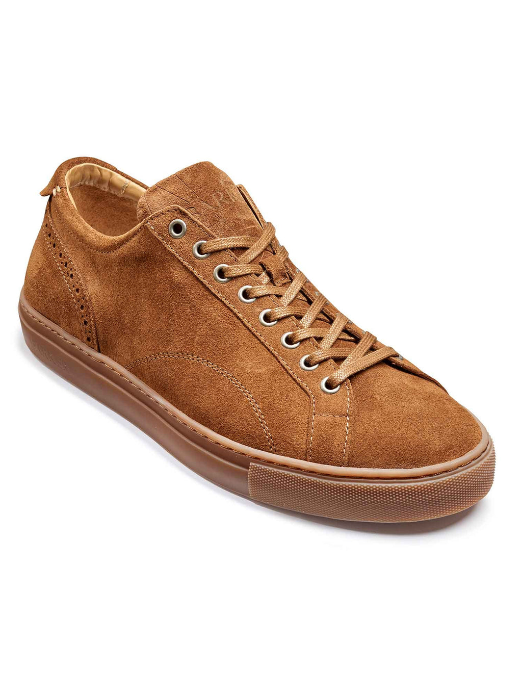 barker axel snuff suede trainer