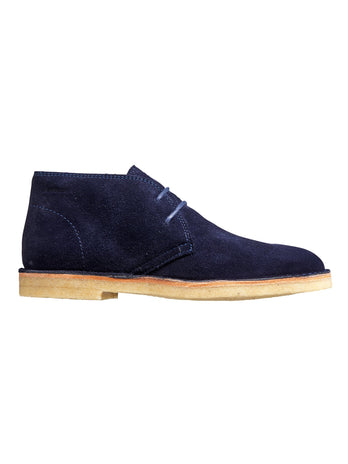 navy suede barker boots