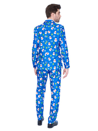 blue christmas suit