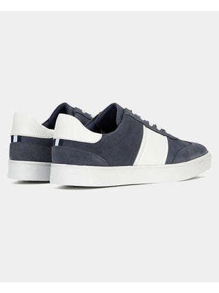 mens blue suede trainers sale
