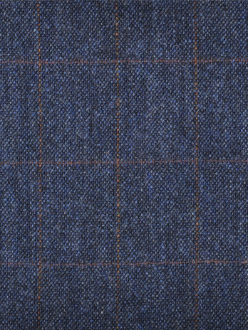 blue and rust donegal tweed 3 piece suit