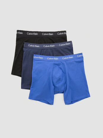Calvin Klein Boxers 3 Pack Black Navy Blue