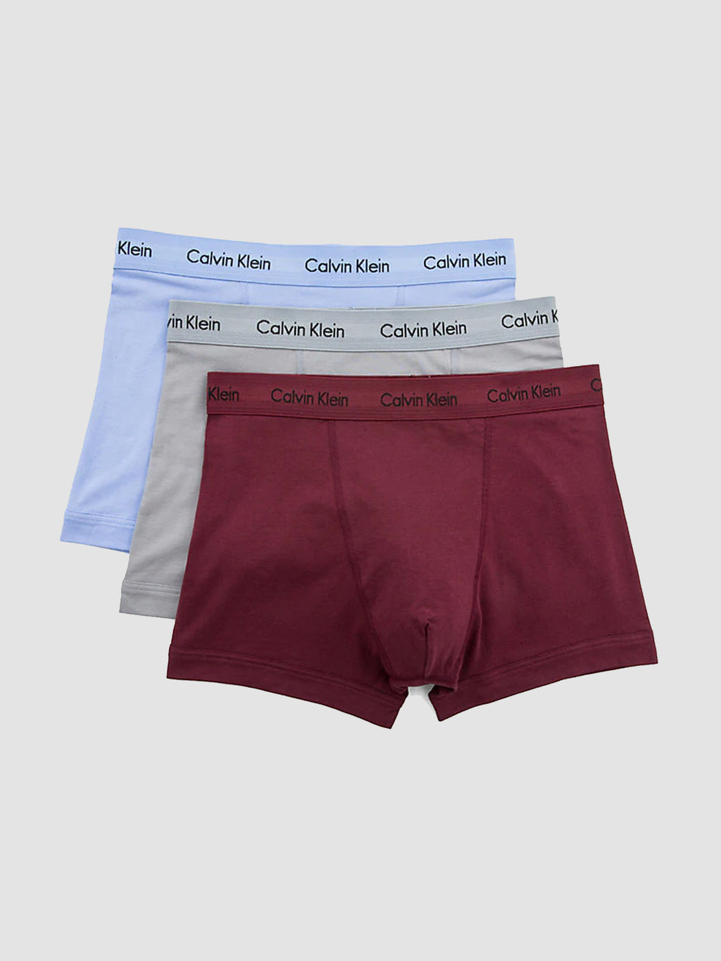 Calvin Klein Boxers 3 Pack Silver Blue Bergundy