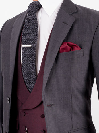 Charcoal Mohair Wedding Suit