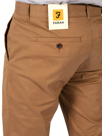 farah chinos brown