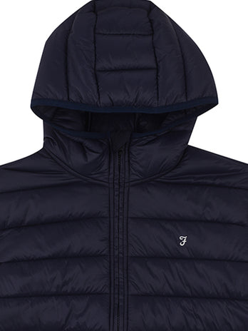 navy farah puffa coat