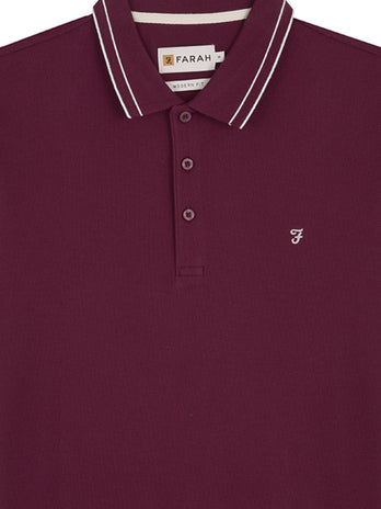 burgundy farah polo shirt