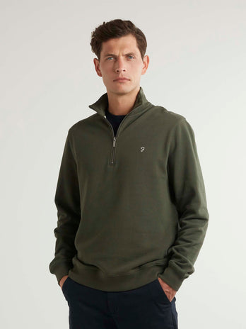farah-quarter-zip-green