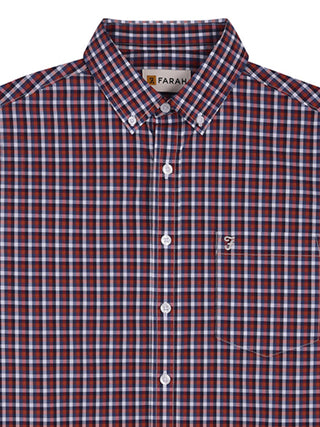red check farah shirt