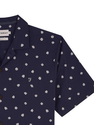 farah shirt short sleeves navy