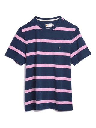 farah-striped-t-shirt-pink