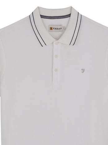 white farah polo shirt
