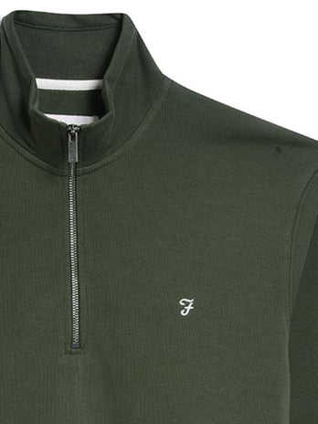 farah-zip-jumper-green