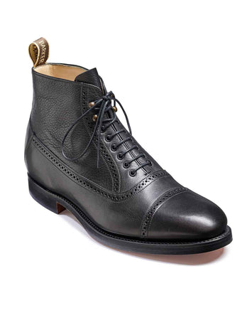barker foley black boots