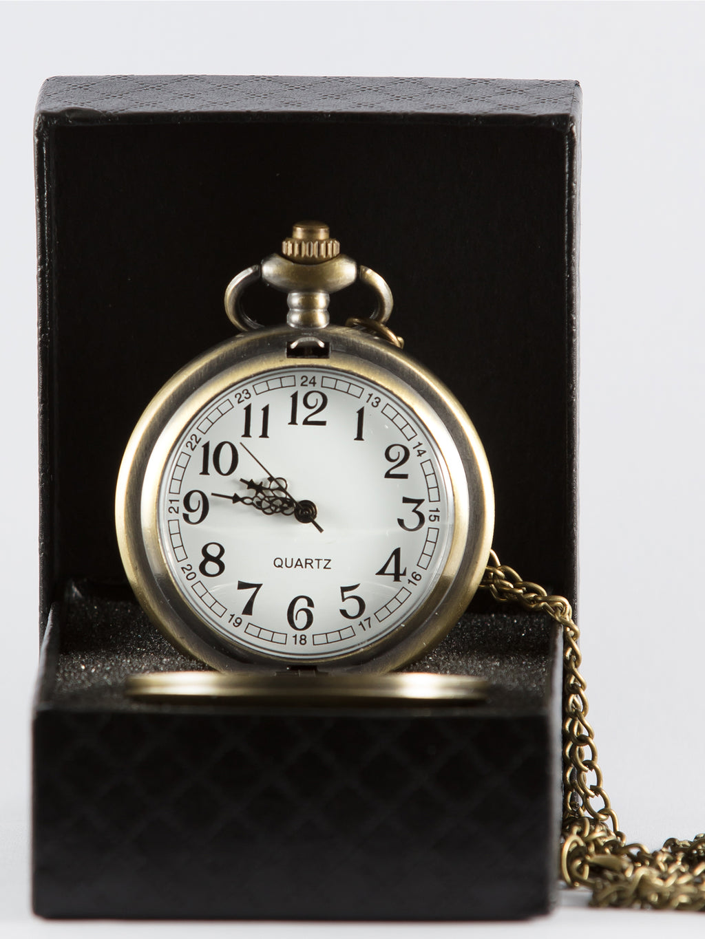 Brushed Gold Pocket Watch