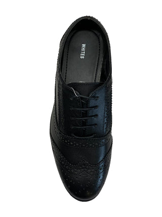 ladies black brogue shoes