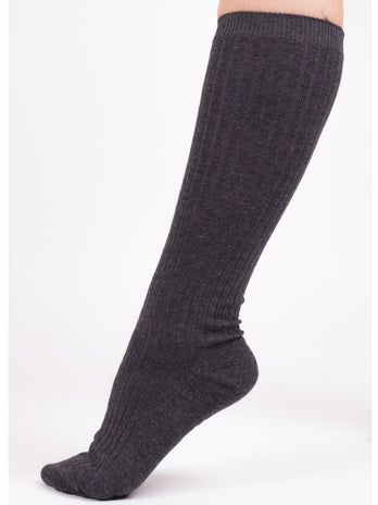 Grey Knee School Socks