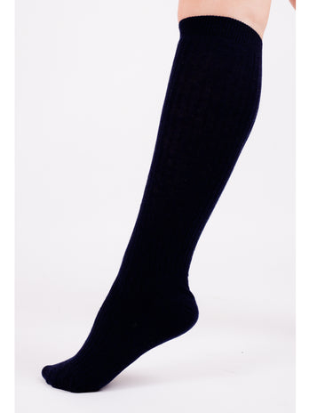 Navy Knee School Socks