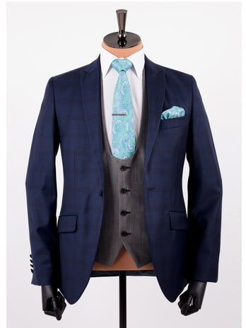 Blue Goodfellas Wedding Suit