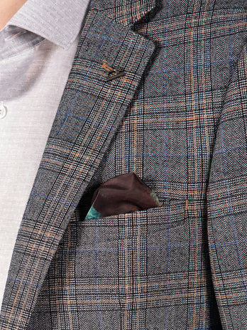 grey check blazer mens