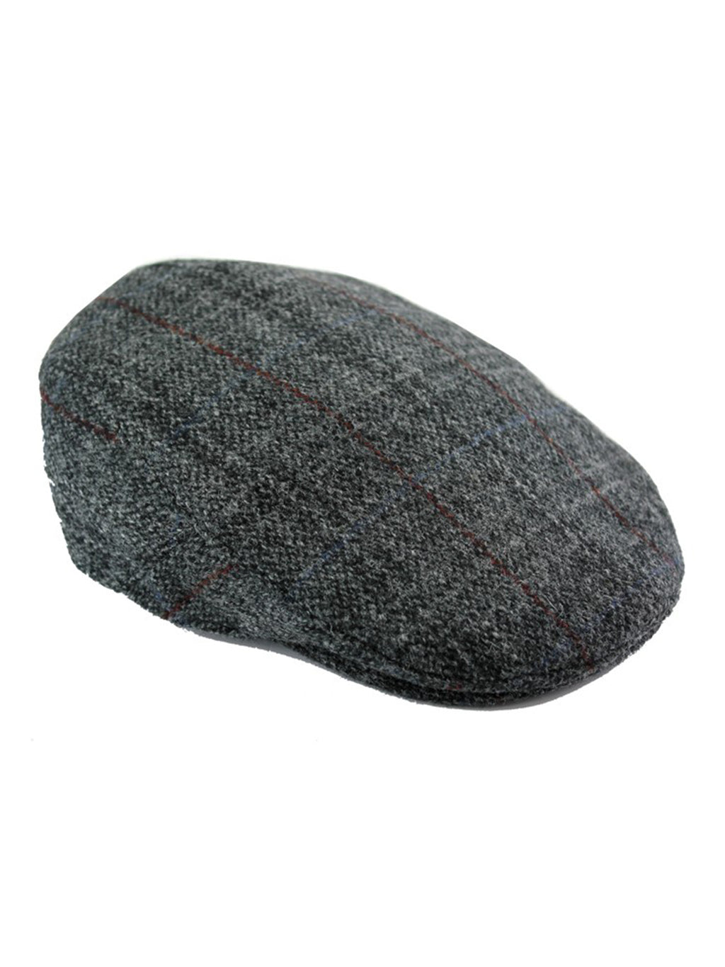 Grey Harris Tweed Flat Cap