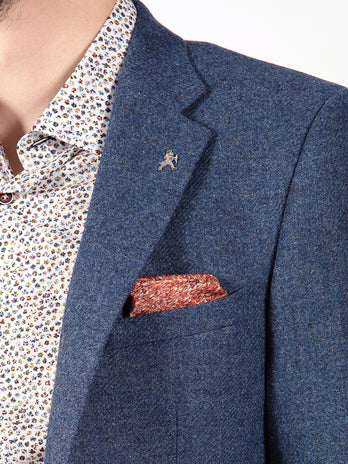 tweed blazer blue