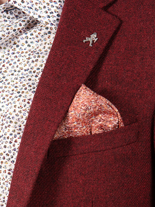 tweed blazer red
