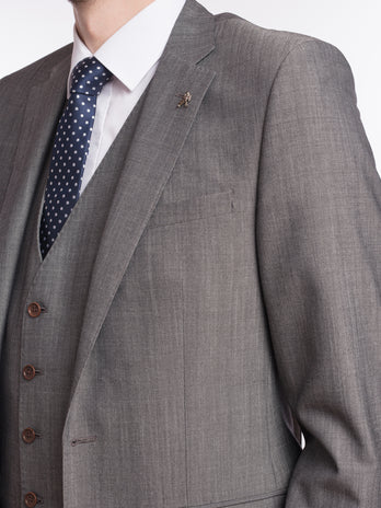 3 piece suit grey herbie frogg