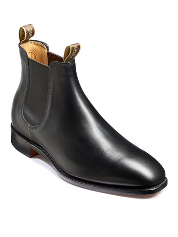mansfield black calf boot barker shoes