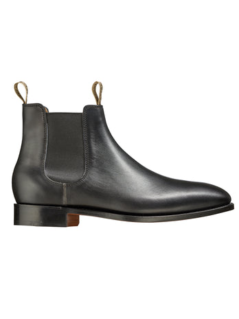 mansfield black calf chelsea boot from barker shoes