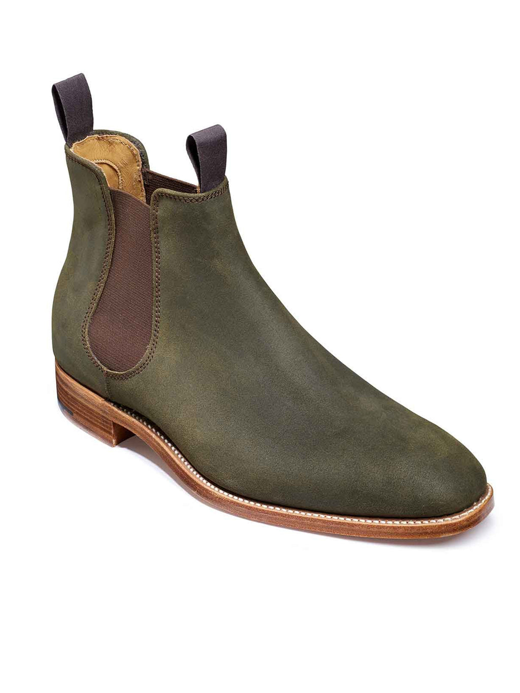 barker mansfield green suede boots