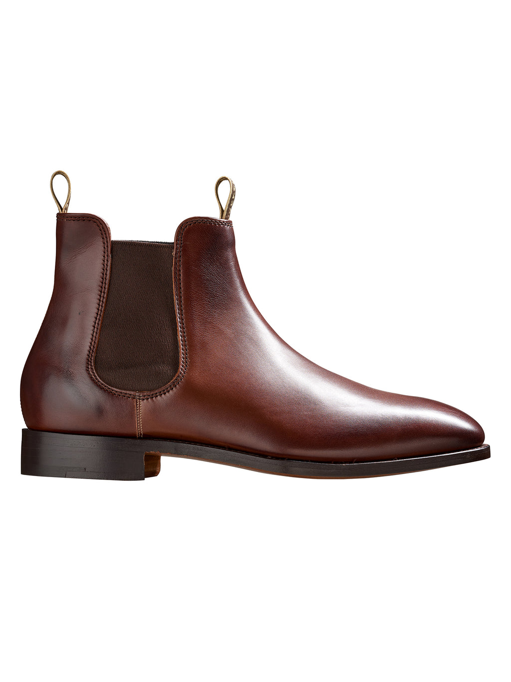 chelsea boot from barker shoes in a walnut calf colour