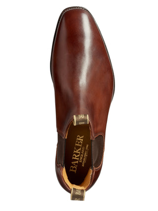 mansfield walnut calf chelsea boot from barker shoes