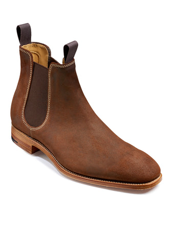 mansfield brown waxy suede chelsea boot from barker shoes