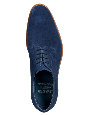 barker shoes max navy suede