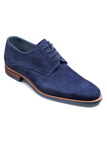 navy suede barker shoes