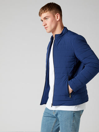 blue pufa coat