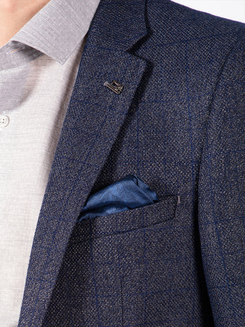 blue check blazer mens