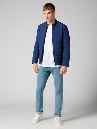 mens blue coat