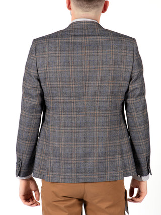 light grey check blazer