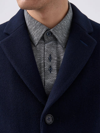 navy over suit coat wool