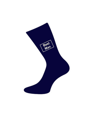 navy bestman socks